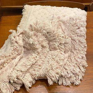 BoHo TWIN Coverlet Bedspread Fringe w Pillow Shams